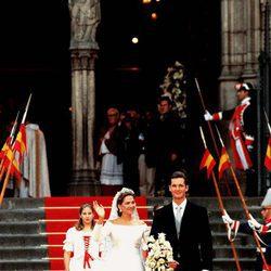 La Infanta Cristina e Iñaki Urdangarin tras convertirse en marido y mujer