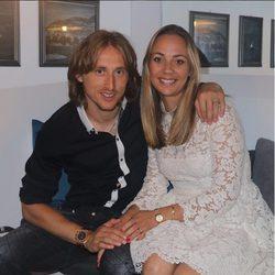 Luka Modric junto a su mujer Vanja