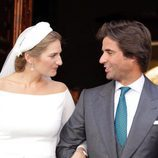 Sibi Montes y Álvaro Sanchís el día de su boda