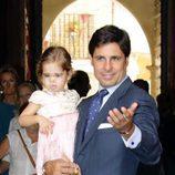 Fran Rivera con su hija Carmen en la boda de Sibi Montes