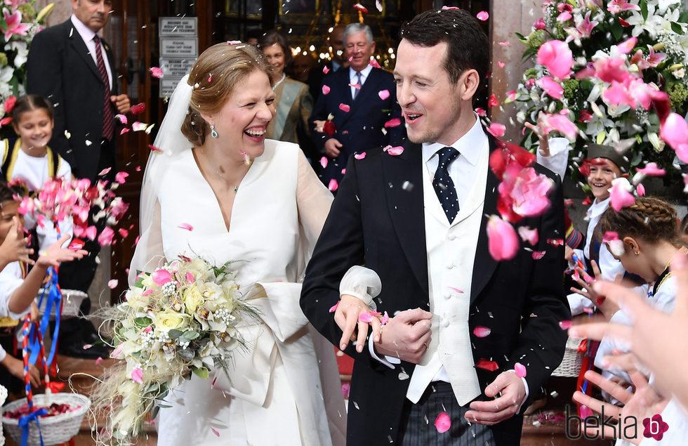 Felipe de Serbia y Danica Marinkovic en su boda