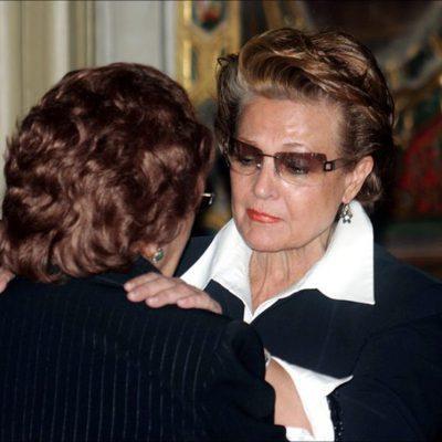 Carmen Sevilla en el funeral de Juanito Valderrama