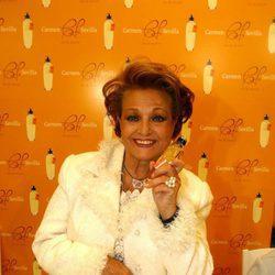 Carmen Sevilla en la presentación de su perfume
