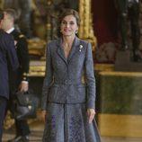 La Reina Letizia en la recepción del Día de la Hispanidad 2017