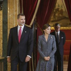 Los Reyes Felipe y Letizia en la recepción del Día de la Hispanidad 2017
