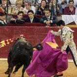Froilán y Gonzalo Caballero en una corrida de toros en Zaragoza