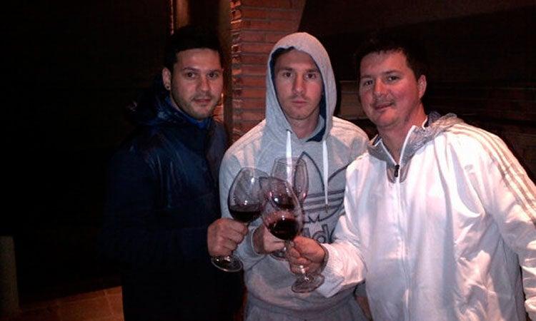 Los hermanos Matias, Leo y Rodrigo Messi