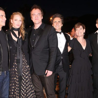 Quentin Tarantino, Harvey Weinstein y el reparto de 'Pulp Fiction'