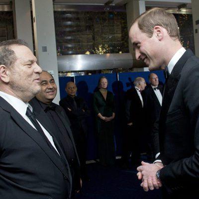 Harvey Weinstein y el Príncipe Guillermo de Inglaterra