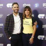 Noemí Galera y Roberto Leal en la presentación de 'OT 2017'