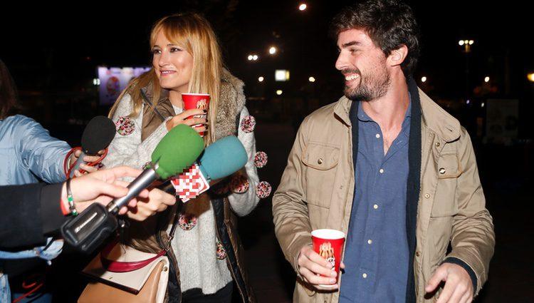 Alba Carrillo y David Vallespín en el Parque de Atracciones