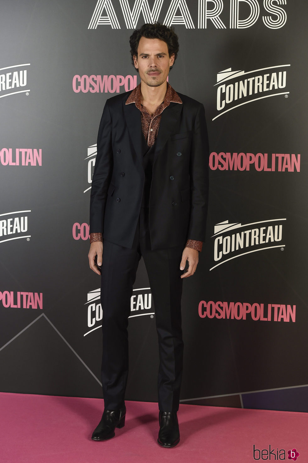 Juan Abellaneda en los Premios Cosmopolitan 2017