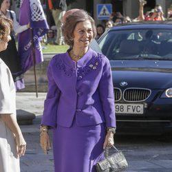 La Reina Sofía a su llegada a Oviedo para los Premios Princesa de Asturias 2017