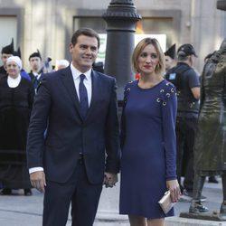 Albert Rivera y Beatriz Tajuelo en los Premios Princesa de Asturias 2017