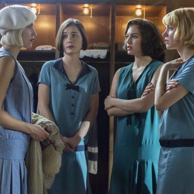 Maggie Civantos, Nadia de Santiago, Blanca Súarez y Ana Fernández en la segunda temporada de 'Las chicas del cable'