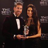 Pilar Rubio y Sergio Ramos en la gala de los Premios The Best Fifa 2017
