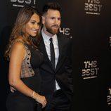 Leo Messi y Antonella Roccuzzo en gala de los Premios The Best Fifa 2017