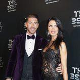 El futbolista Sergio Ramos y Pilar Rubio en la gala de los Premios The Best Fifa 2017