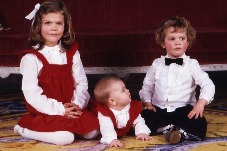 Magdalena de Suecia en su primera Navidad con sus hermanos Victoria y Carlos Felipe