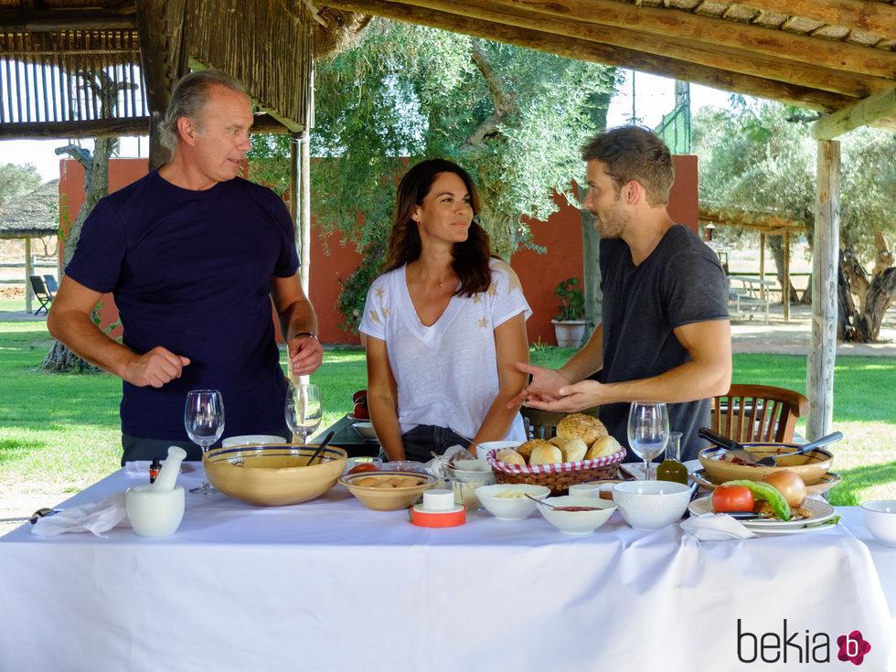 Pablo Alborán con Bertín Osborne y Fabiola en 'Mi casa es la tuya'
