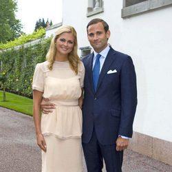 Magdalena de Suecia y Jonas Bergström