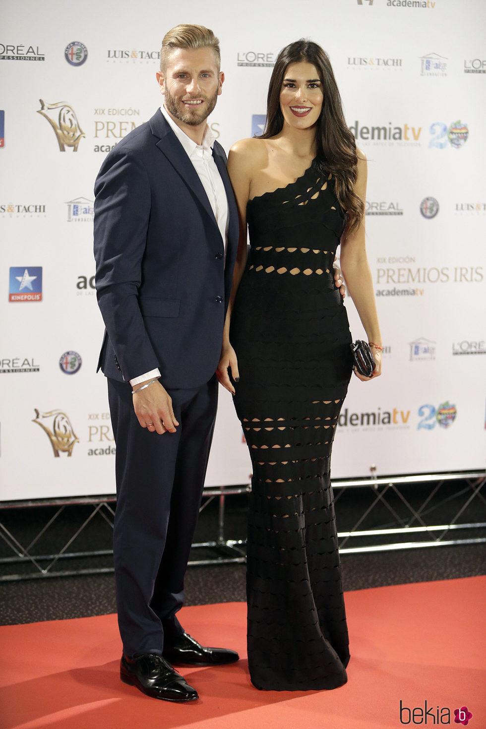 Matías Roure y Lidia Torrent en los Premios Iris 2017