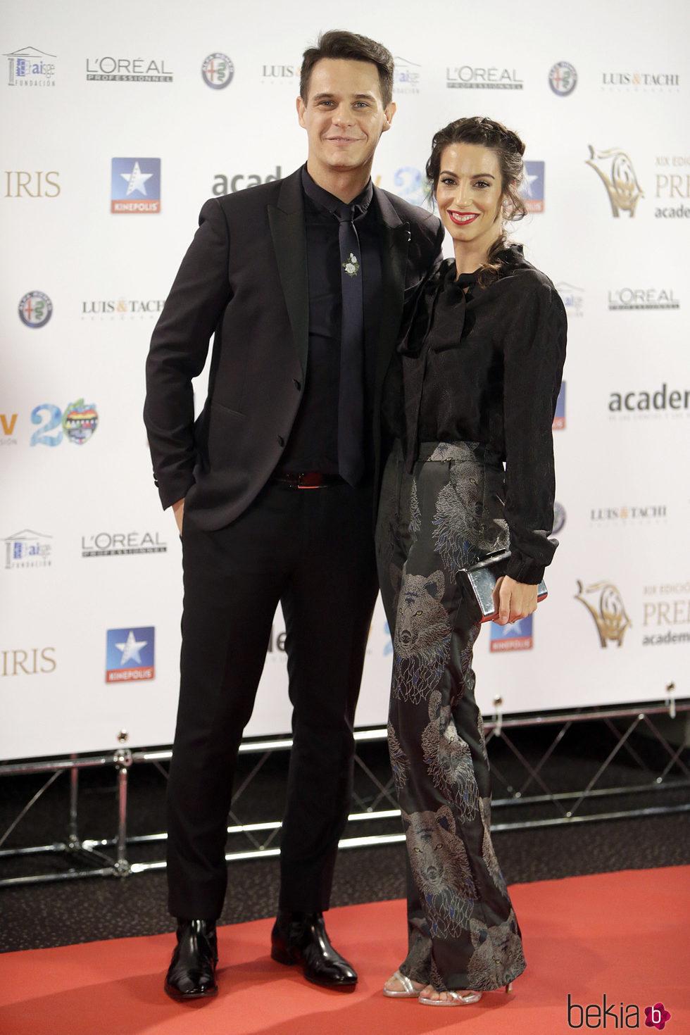 Christian Gálvez y Almudena Cid en los Premios Iris 2017