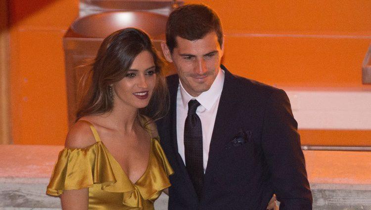 Iker Casillas y Sara Carbonero en la Gala de los Dragones de Oporto