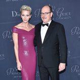Alberto y Charlene de Mónaco en la gala Princesa Grace 2017