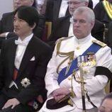 El Duque de York junto a Akishino y Kiko de Japón en el funeral de Bhumibol de Tailandia