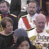 Guillermo de Luxemburgo, Haakon de Noruega y Federico de Dinamarca en el funeral de Bhumibol de Tailandia