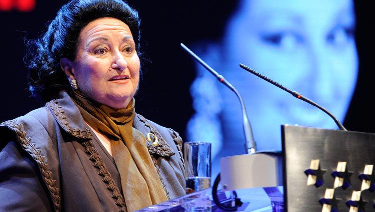 Montserrat Caballé en la entrega de los premios cultura y medalla