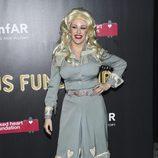 Ellie Goulding en una fiesta de Halloween en Nueva York