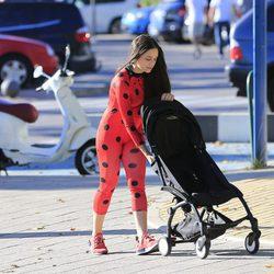 Clarice Alves disfrazada en Halloween 2017