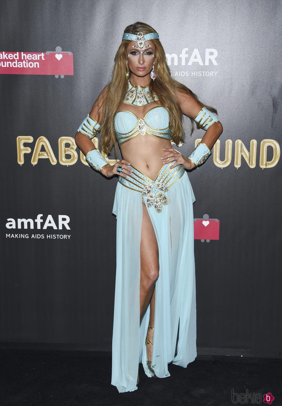 Paris Hilton en la fiesta de Halloween 2017