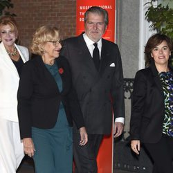 Tita Cervera, Íñigo Méndez de Vigo, Manuela Carmena y Soraya Sáenz de Santamaría en el 25 aniversario del Museo Thyssen