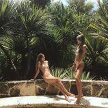 Victoria y Cristina Iglesias disfrutando del sol en Punta Cana
