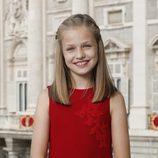 La Princesa Leonor en su primera foto oficial en solitario