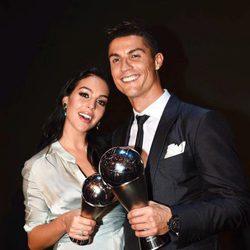 Cristiano Ronaldo y Georgina Rodríguez, muy felices tras en la gala The Best
