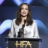 Angelina Jolie en la gala de los Hollywood Film Awards 2017