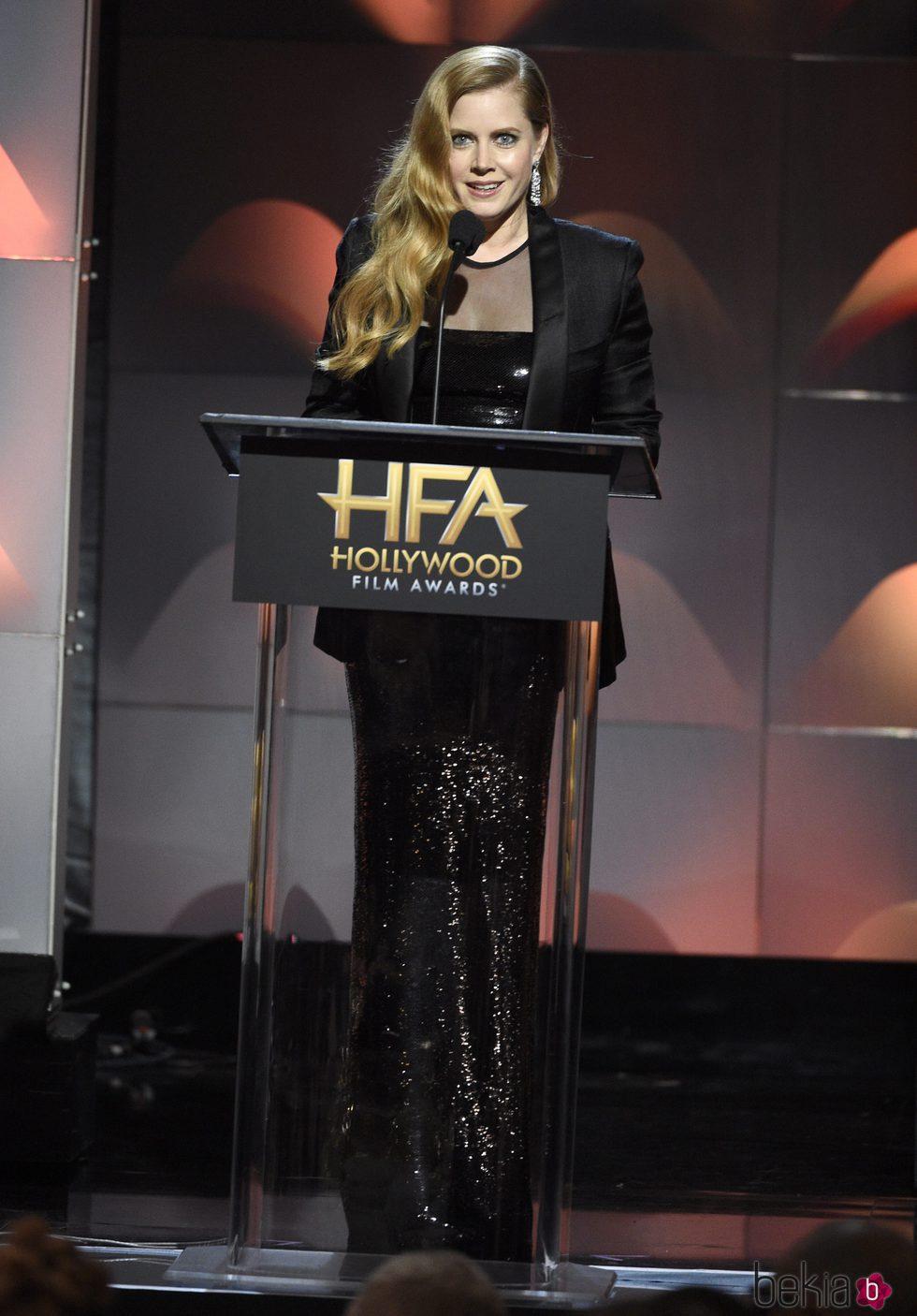 Amy Adams en la gala de los Hollywood Film Awards 2017