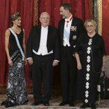 Los Reyes Felipe y Letizia con el presidente de Israel, Reuven Rivlin, y su mujer, Nechama Rivlin