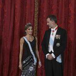 Los Reyes Felipe y Letizia en la cena de gala en honor al presidente de Israel, Reuven Rivlin