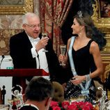 El presidente de Israel brinda con la Reina Letizia en la cena de gala en el Palacio Real