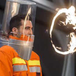 Miguel Ángel Silvesre durante un experimento de 'El Hormiguero'