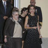 La Reina Letizia y Nechama Rivlin a su llegada a una cena en El Pardo
