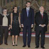 Los Reyes Felipe y Letizia con el presidente de Israel y su mujer, Nechama Rivlin, en El Pardo