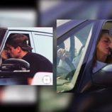 Yoli y Jonathan ('GH15') imitando una foto besándose en un coche