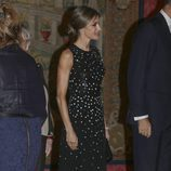 La Reina Letizia en la cena ofrecida por el presidente de Israel a los Reyes en El Pardo