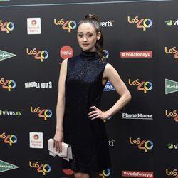 Elena Rivera en la alfombra roja de los 40 Principales Music Awards 2017